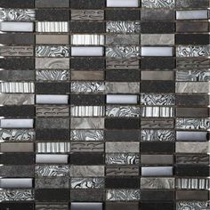 The Safari range of mosaic wall tiles offer a striking rectangular shape which can be laid horizontally or vertically for more individual mosaic designs. Available in a range of colours including these stunning silver and black mosaic tiles, they are a beautiful choice for kitchen or bathroom mosaic tiles.