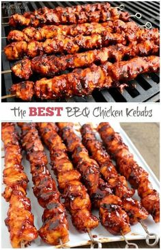 The Best BBQ Chicken Kebabs This isn't your ordinary barbecue chicken. In fact, these BBQ Chicken Kebabs are the best barbecue chicken I've tasted. The post The Best BBQ Chicken Kebabs appeared first on Womans Dreams. Best Bbq Chicken, Chicken On The Grill, Grilled Chicken Recipes, Grilled Chicken Tenders, Grilling Chicken, Barbecue Chicken Grilled, Grilled Asparagus Recipes, Best Chicken Ever, Korean Bbq Chicken