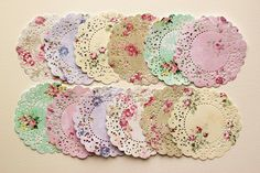 cut out of pretty floral paper  --pretty doilies  #silhouette_cameo #doily