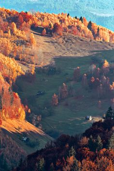Countryside - Scattered houses in the Romanian Carpathians