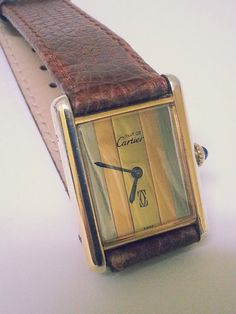 CARTIER must de Watch Designer Tank by STUNNINGCOLLECTIBLES