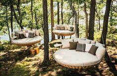 Outdoor Lounge, Outdoor Beds, Outdoor Spaces, Outdoor Living, Outdoor Furniture, Outdoor Decor, Outdoor Seating, Wicker Furniture, Outdoor Swings