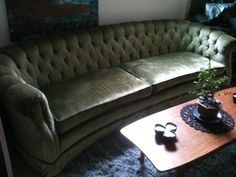 Clyde Pearson Sofa | ... Green Velvet Regency Mid Century Sofa Clyde Pearson  By Soule, $800.00 | For The Home | Pinterest | Mid Century Sofa, Green  Velvet ...