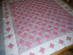 Make offer...... Gorgeous Pink Chic Handstitched Cathedral Window Baby or Lap Quilt | eBay