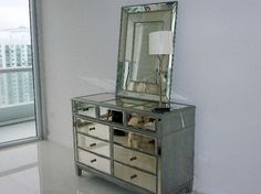 Dressers With Mirrors - When choosing furniture for a bedroom, you should certainly explore the many pieces of mirrored furniture available. Bedroom Dresser With Mirror, Cheap Bedroom Dressers, Pine Dresser, Baby Dresser, Mirrored Dresser, Colorful Dresser, Interior Design Photos, Interior Designing, Kb Homes