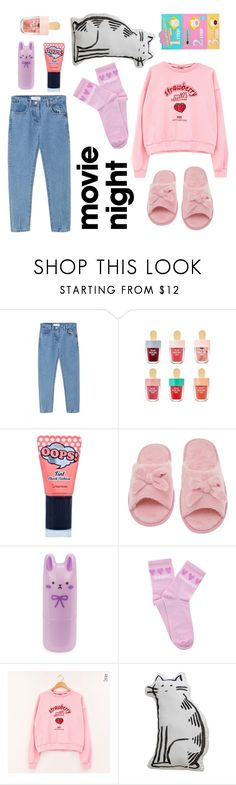 """""""cute pink night set"""" by rainbow07 ❤ liked on Polyvore featuring WithChic, BERRISOM, Deluxe Comfort, Tony Moly, Yeah Bunny, chuu and Holika Holika"""
