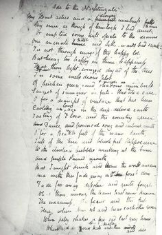 shelley draft of the witch of atlas this is my favorite poem of ode to a nightingale in keats own hand