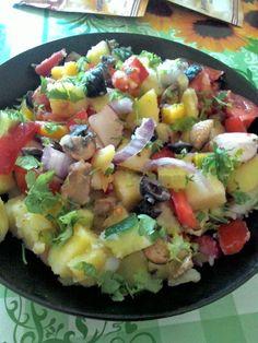 Salata orientala fara ou. | GOLDY in bucatarie. Potato Salad, Potatoes, Ethnic Recipes, Kitchen, Food, Sitting Rooms, Cooking, Eten, Potato