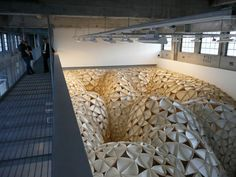 Voussoir Cloud- IwamotoScott Architecture and Buro Happold Organic Architecture, Space Architecture, Bamboo Structure, Arch Model, Digital Fabrication, Parametric Design, Modern Metropolis, Space Gallery, Green Life