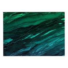 KESS InHouse Ebi Emporium 'Agate Magic-Green Plum Ombre' Aqua Purple Dog Place Mat, 13' x 18' * Special dog product just for you. See it now! : Dog food container
