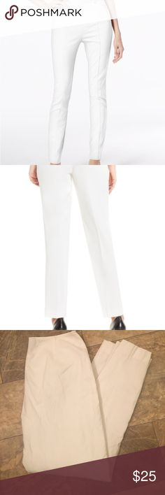 Anne Taylor White Skinny Trouser Fashion Zip Pants Gorgeous ! No damage . Worn a few time only. Tts & flattering. The material has a lite texture . The fabric feels really expensive . Pics do 0 justice. Very nice condition. Please see pics for description Ann Taylor Pants Skinny