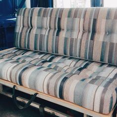 Treat yourself to new cushions for your rock and roll bed like this customer 🚐 Vehicle Upholstery, Rock And Roll Bed, Campervan, Motorhome, Caravan, Travelling, Cushions, Mood, Inspiration