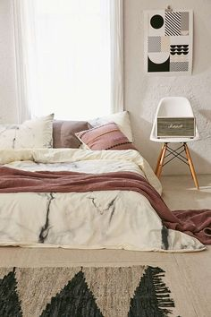 Chelsea Victoria For DENY Marble Duvet Cover - Urban Outfitters