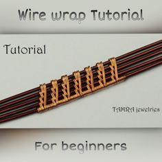 Wire Jewelry Patterns, Wire Jewelry Designs, Handmade Wire Jewelry, Wire Jewelry Making, Jewelry Making Tutorials, Wire Wrapped Jewelry, Wire Tutorials, Wire Weaving Tutorial, Wire Wrapping Crystals