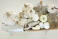Craftberry Bush: Too easy drop cloth pumpkin....a tutorial