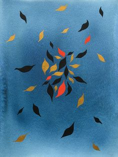 Leafy Sway is a premium quality giclee print on archival paper. A fine art print of an original painting / design made with ink, gouache and golden acrylic. Paint Designs, Gouache, Autumn Leaves, Giclee Print, Fine Art Prints, Original Paintings, Ink, Abstract, Inspiration