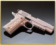 Femme Fatale - Browning Compact 1911, semi-auto pistol, Stunning in white with…