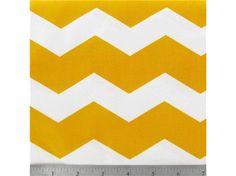APT4-33 Yellow  White Chevron Fabric hobby lobby