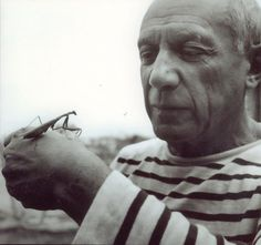 Just Picasso and a praying mantis