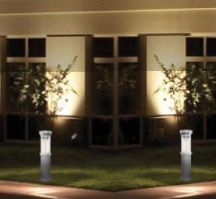 Add these black solar powered bollard lights to your home landscape or business entryway. Great for lining your walkway, garden or driveway.