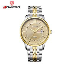 LONGBO Men and Women Stainless Steel Watches Luxury Brand Quartz Wrist Watches Date Business Lover Couple 30m Waterproof Watches - Online Shopping for Watches