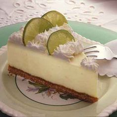 This key lime cheesecake recipe has all the tart flavor of a favorite Florida dessert.