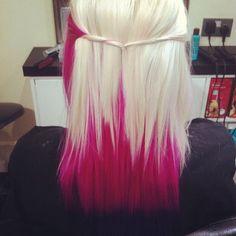 Pink & Platinum hair