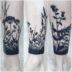 botanical extended cuff on leg