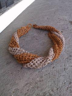 Ravelry: Wind wrap pattern by Lia Govers Filet Crochet, Crochet Shawl, Crochet Yarn, Crochet Bracelet Tutorial, Crochet Necklace, Crochet Jewellery, Necklace Tutorial, Crochet Scarves, Crochet Clothes