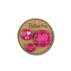 Alpha Phi Buttons available now from AlphaPhiStore.com.