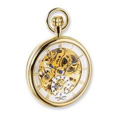 Charles Hubert 18k Gold-plated Full Skeleton Dial Pocket Watch Jewelry Adviser Charles Hubert Watches. $254.23. Save 60%!