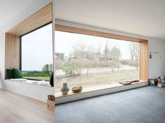 The Werkhaus by Thomas Kroger Architects has two key features for us: the built-in window nook and interior fire pit. Big Windows, Windows And Doors, Casas Containers, Interior Architecture, Interior Design, Landscape Architecture, Architecture Courtyard, Window Design, Home And Living