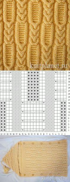 Planeta de punto | Patrón Kos número 5. El esquema y la descripción del patrón de agujas de tejer.