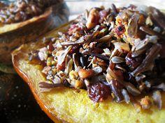 Wild Rice and Spicy Lentil Stuffed Acorn Squash
