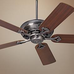 """52"""" Casa Vieja® Trilogy™ Pewter Ceiling Fan"""