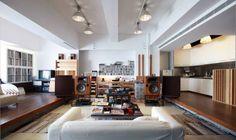 Music listening room.