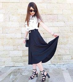 #Monday ed è subito tristezza infinita, esiste qualcuno a cui il lunedì piace ?? Io non credo!!  Total outfit by @sarahchole_official #sarahchole #sarahbloggers