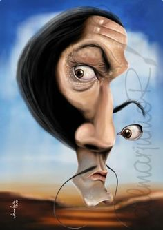 Salvador Dali Born in Spain 1904-1989. Famous Paintings, sculptures, writer, screenwriter. ~Chantal ~