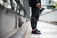 Creative Recreation ADDIS Tracksuit in Black Camo & CESARIO LO XVI in Black Linear Sport