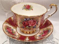 Vintage PARAGON Fine Bone China Tea Cup & Saucer - English