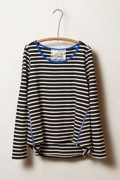 Love the zipper detail on this striped top from Anthropologie