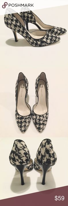0ffb6cdcb58d NWOT Anne Klein Houndstooth Pumps Black and ivory abstract houndstooth  print pumps by Anne Klein. Size Brand new