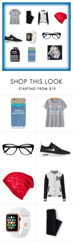 """""""School"""" by jasmin192 ❤ liked on Polyvore featuring Kate Spade, NIKE, Lands' End and Vans"""