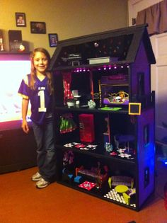 This is the after picture, it's a Monster High dollhouse now!
