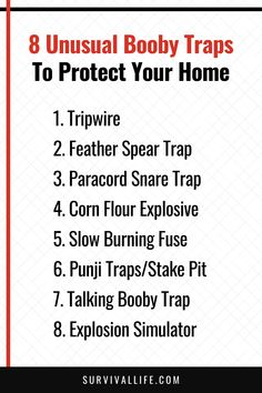 Nowadays, crime is increasing at an alarming rate. So check out this 9 kickass booby traps for a more secured and protected homestead. #boobytraps #survivalskill #survivalhack #survivallife Survival Hacks, Survival Life, Camping Survival, Survival Skills, Sprinkler Valve, Bug Out Location, Snare Trap, Letting Your Guard Down, Film Home