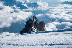 Chamonix, France - Aiguille du Midi, Above The Clouds by GlobeTrotter 2000