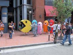 A game of life-sized Pac-Man …