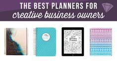 Ready to plan out those new year goals + to-dos? Here are eight 2017 planner options recommended by creative business owners!