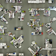 Empty pharmacutical lab photographed from above by Menno Aden