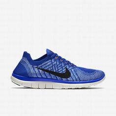 half off ae1ef d776e  106.99 nike free 4.0 blue,Nike Womens Racer Blue University Blue Hyper  Orange Black Free 4.0 Flyknit Running Shoe